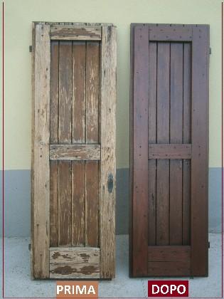 Restauro finestre falegnameria serena - Verniciare porte in legno ...